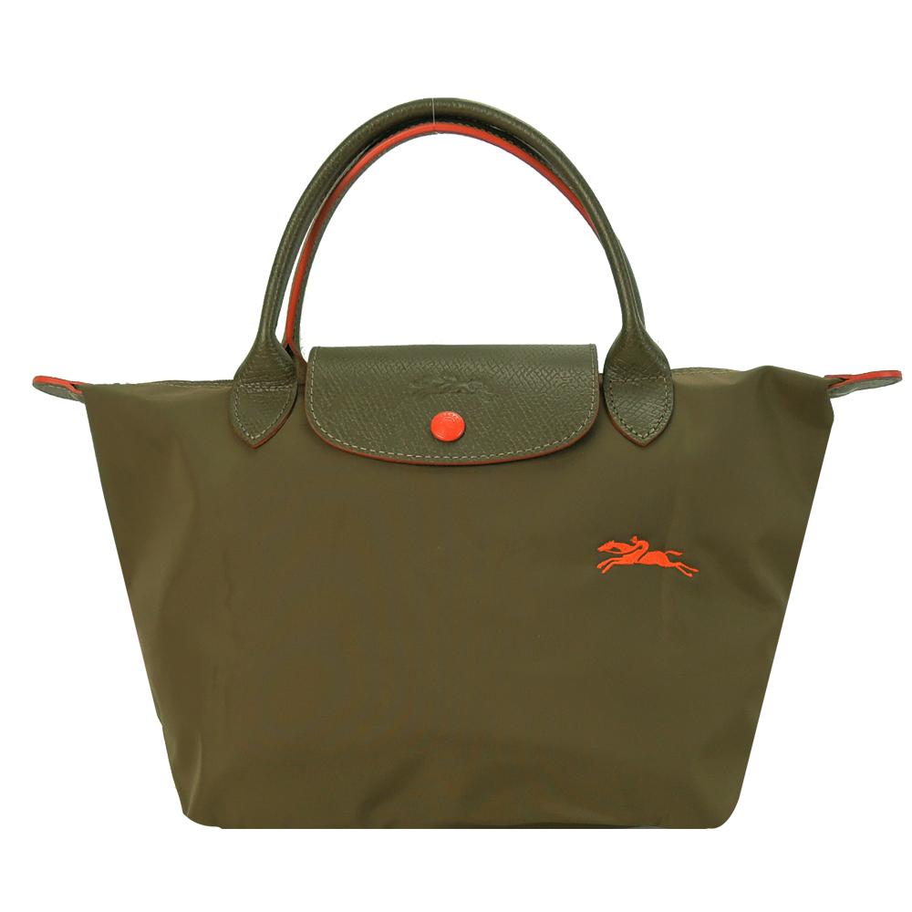 LONGCHAMP Le Pliage Collection 短把折叠水饺包(小/卡其)