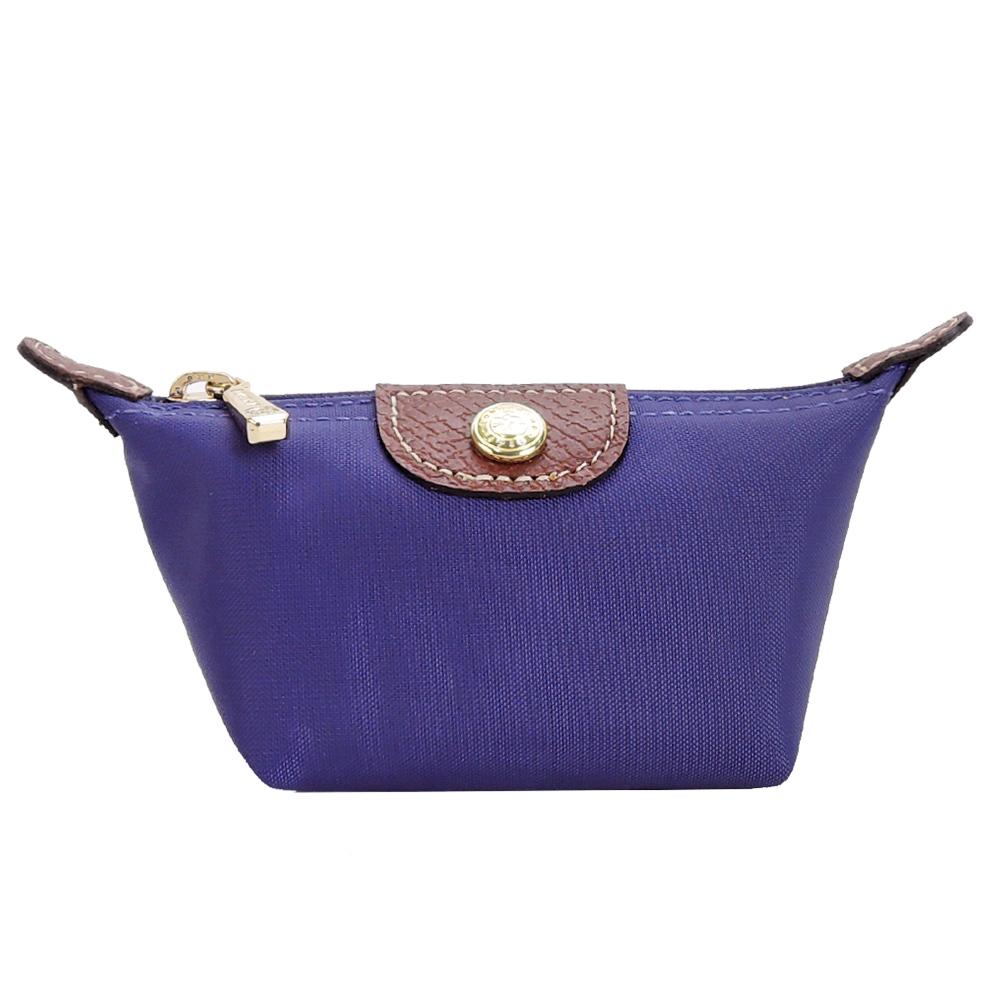LONGCHAMP Le Pliage 水饺型零钱包(紫水晶)