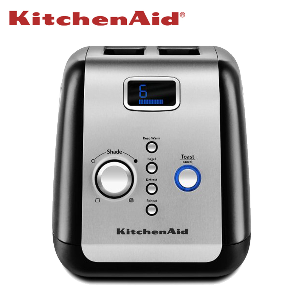 【KitchenAid】質感智能烤麵包機-2片按鍵式 KMT223 (黑/銀)