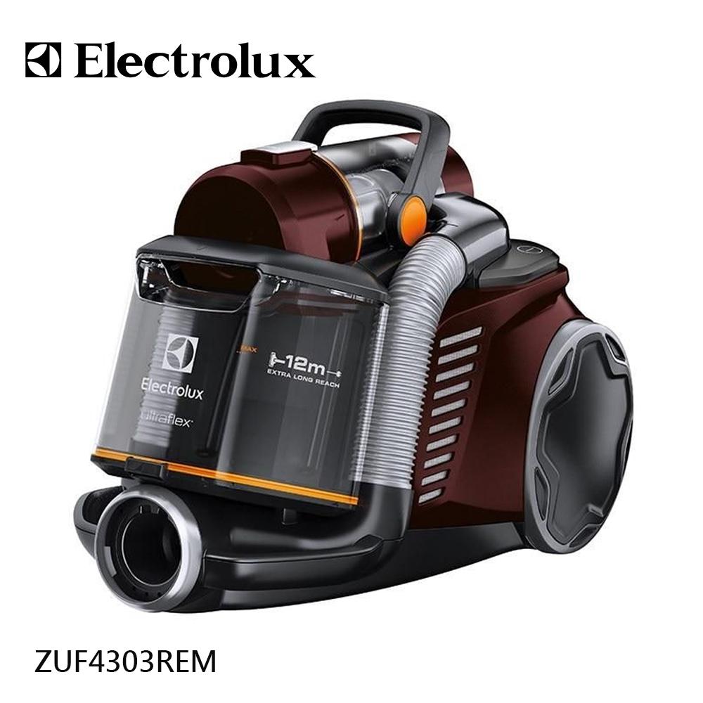 (公司貨)買就送風動吸頭【伊萊克斯Electrolux】臥式插電雙通道旋風鎖塵吸塵器 ZUF4303REM