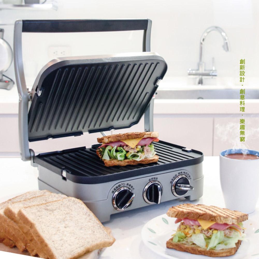 (原廠公司貨)【Cuisinart美膳雅】多功能燒烤/煎烤盤GR-4NTW