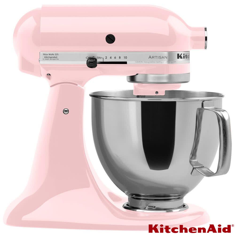 (台灣公司貨保固5年)KitchenAid 4.73L抬頭式攪拌機 KSM150 (KSM150PSPK) 粉紅色