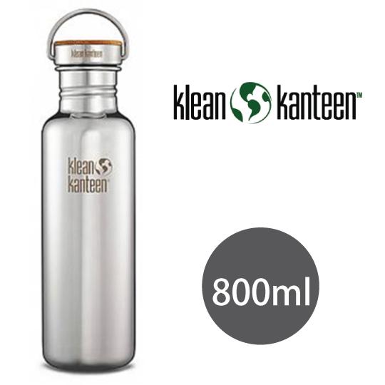 【美国Klean Kanteen】不锈钢瓶800ml_镜面钢(竹片钢盖)