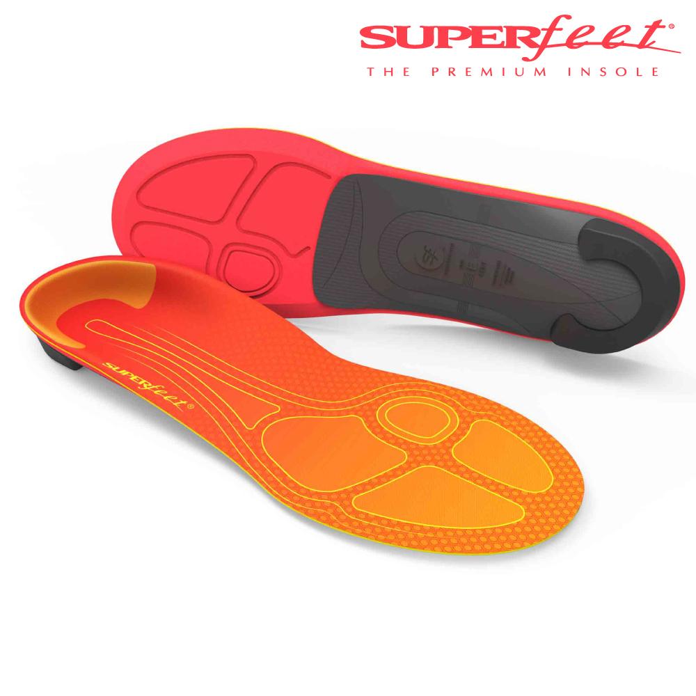 【美国SUPERfeet】碳纤维路跑鞋垫 – 橘色