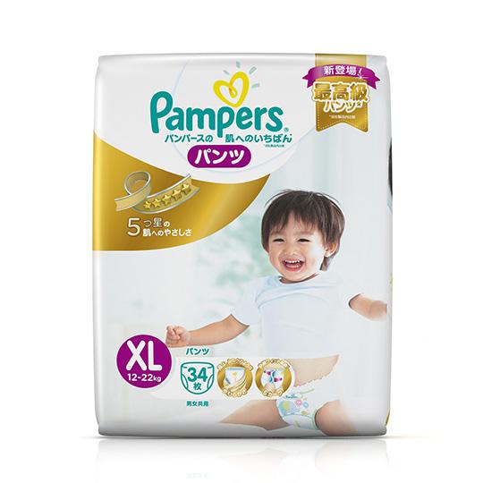 幫寶適 特級棉柔 拉拉褲 (XL) 34片/包x6包/箱