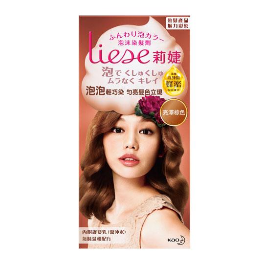 莉婕Liese 泡沫染髮劑 魅力彩染系列 亮澤棕色