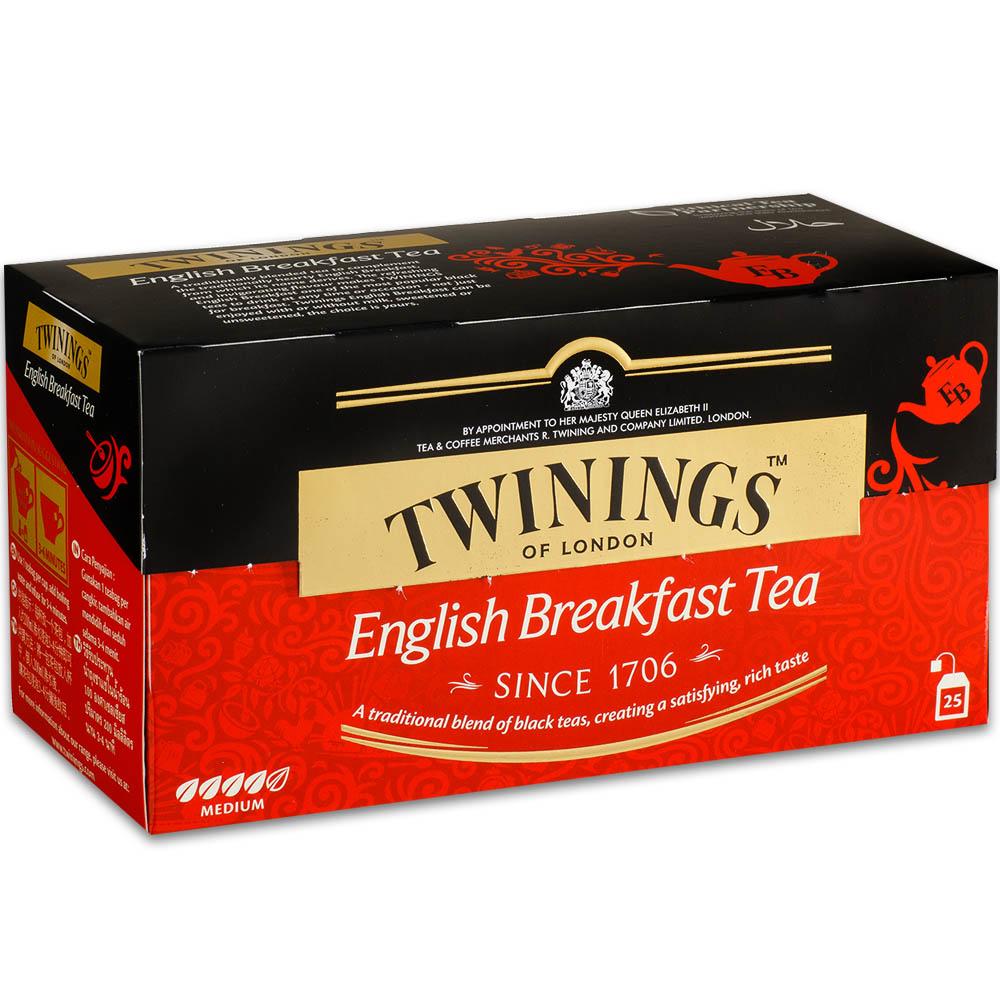 【Twinings唐寧茶】英倫早餐(2g*25包X3入)