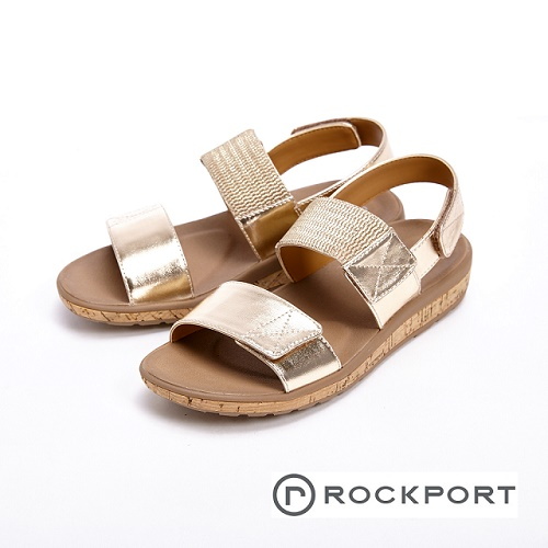 【ROCKPORT】都會雅仕系列 涼夏休閒款涼拖鞋 女鞋- 銀(另有棕)