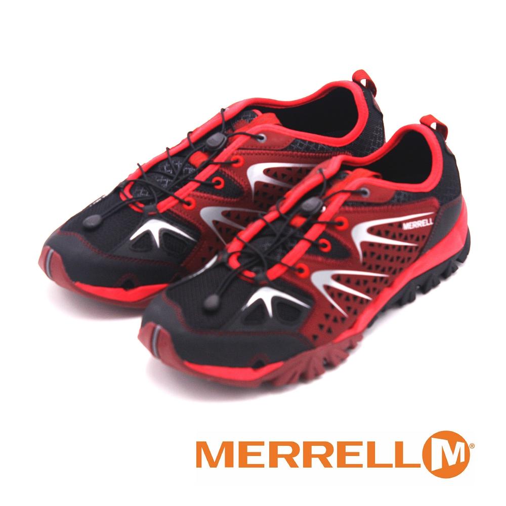 MERRELL 多功能健走鞋 CAPRA RAPID 男鞋-暗红