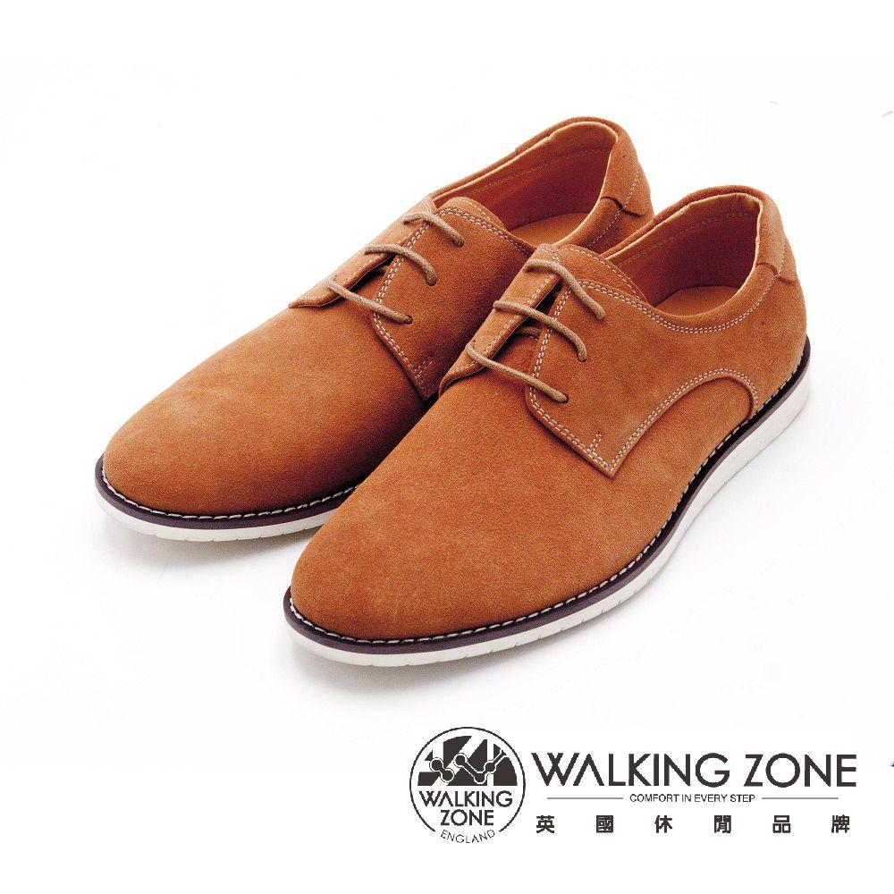 WALKING ZONE 素色英伦绑带休闲鞋 男鞋-棕(另有黑)