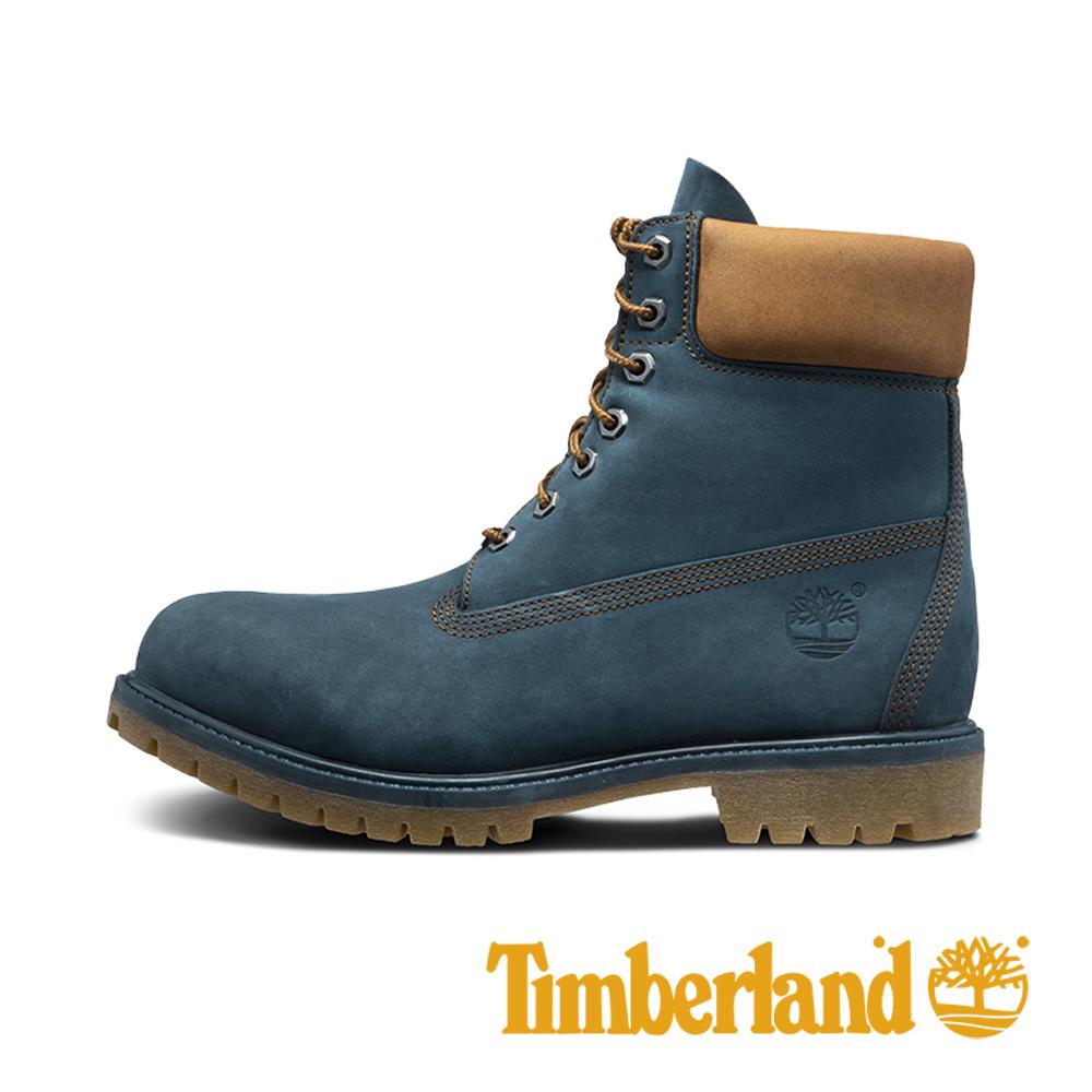 Timberland 男士Timberland® Icon 6 吋優質防水靴-藍色