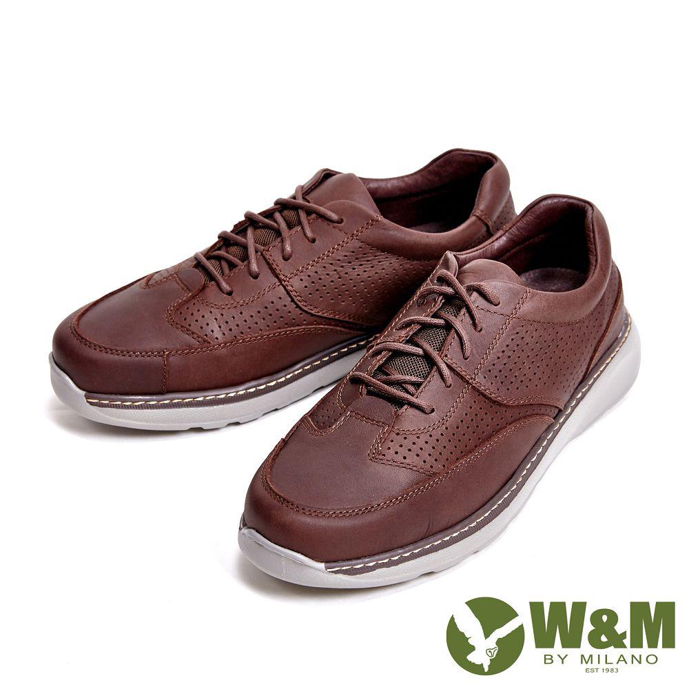 【W&M】轻量减压系列 透气孔休闲 男鞋-咖(另有黑)