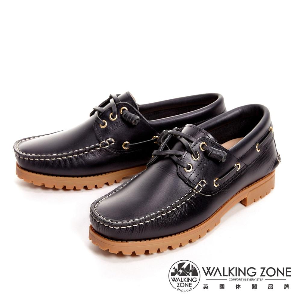 【WALKING ZONE】经典复刻雷根鞋(油蓝色) 小牛皮手工-男