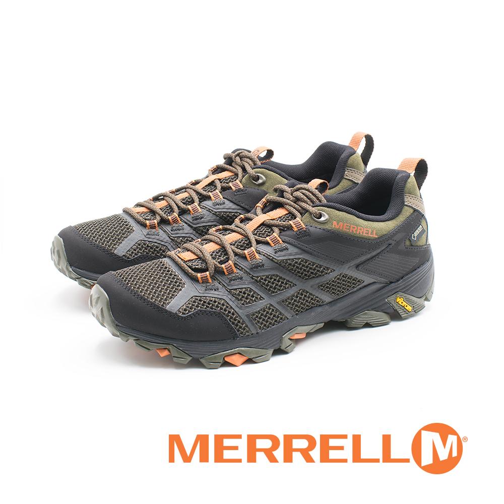 MERRELL (男)MOAB FST 2 GORE-TEX多功能健行鞋 防水登山鞋-橄榄绿