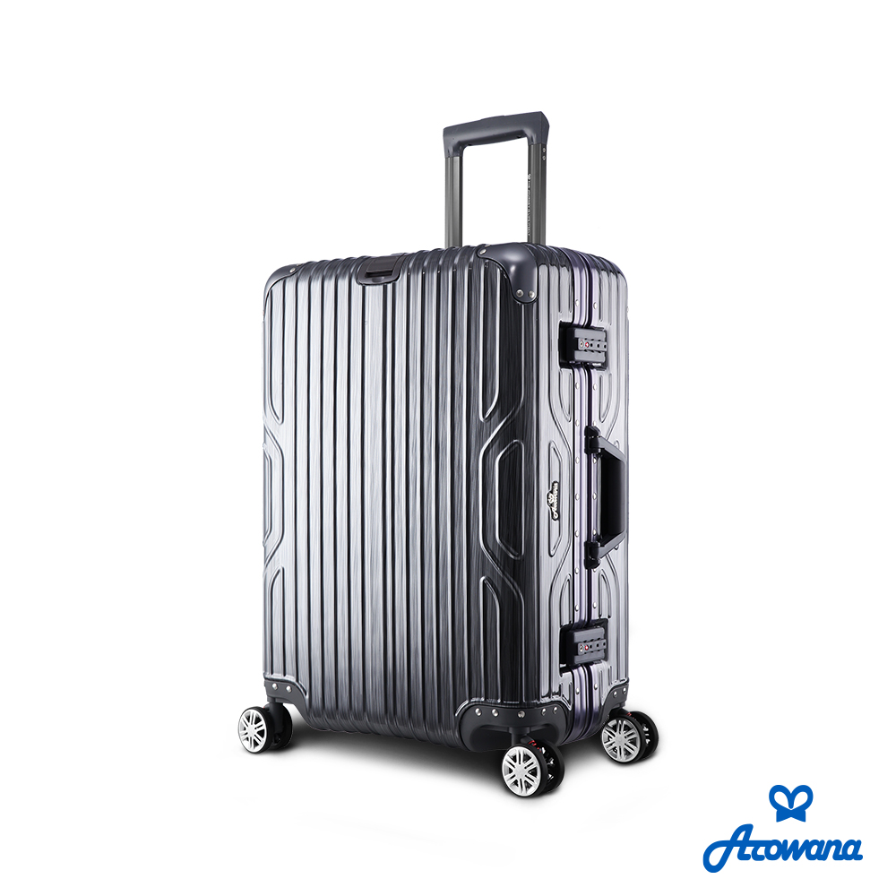 Arowana 星漾国度25吋PC铝框避震轮旅行箱/行李箱  (铁灰色)
