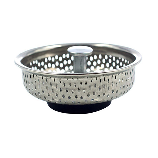PUSH! 廚房用品 外徑85MM內徑80MM深度20MM 人體工學提把式不鏽鋼流理台水槽濾網
