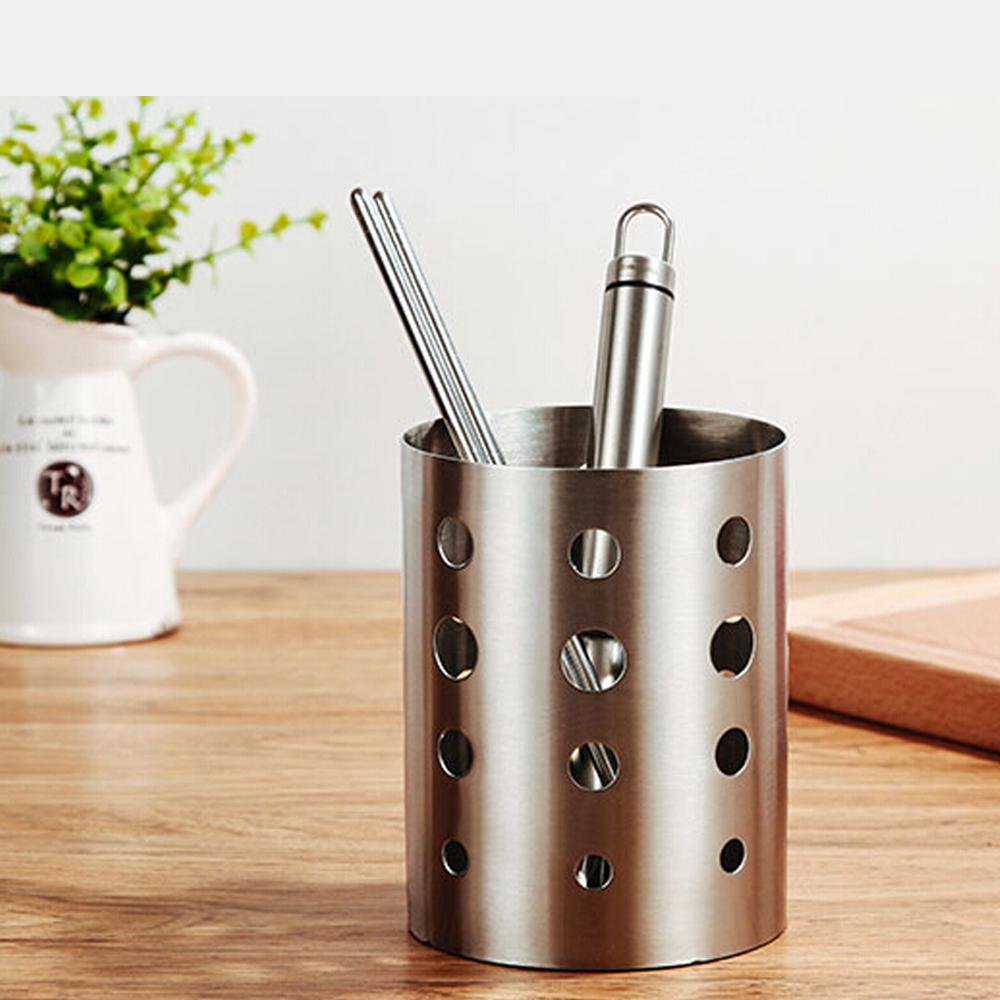 PUSH! 餐具用品 304不銹鋼加厚筷子筒筷子籠筷子收納盒  款 E55