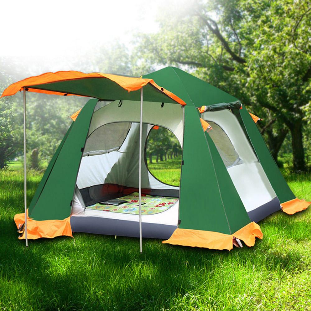 户外休闲登山用品 3~4人防水4000mm四季内外帐设计自动帐篷p95图片