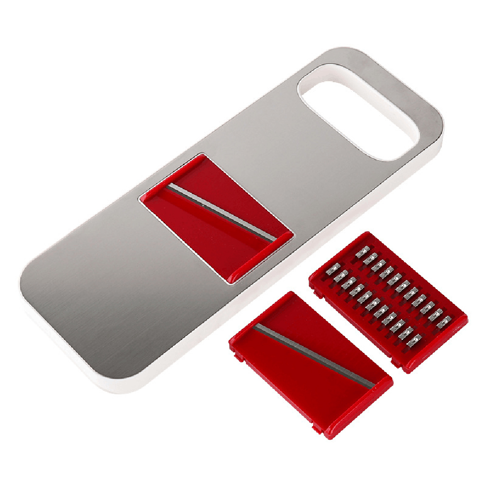 PUSH!厨房用品防切手多功能切片切菜器刨丝器切丝(可薄切柠檬)D127