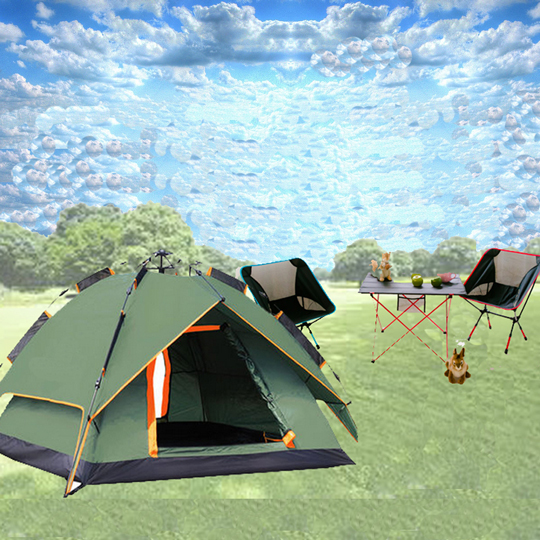 WASHAMl-就是爱露营3-4人自动帐篷LZ01-014