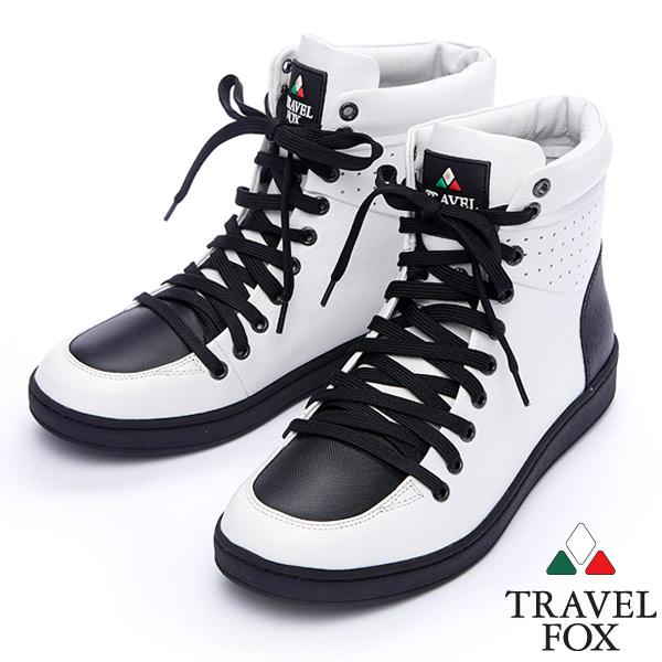 Travel Fox SEXY~零元素高筒鞋914621 白~07  男款