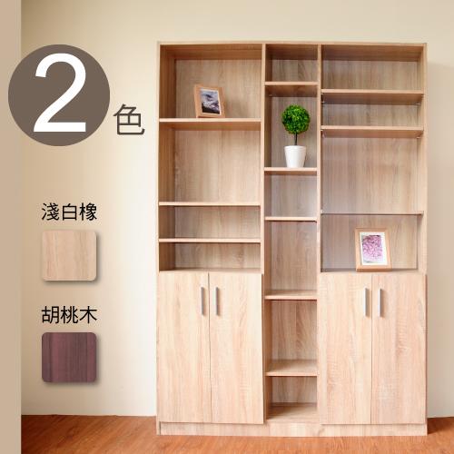 【Hopma】都会四门六格书柜-二色可选