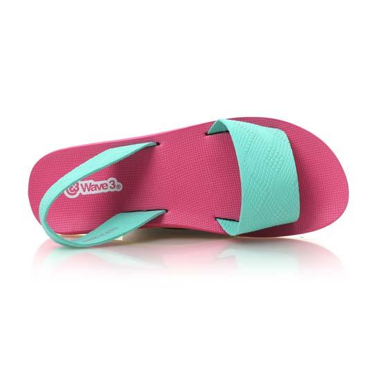 WAVE3 女瑜珈垫凉鞋-拖鞋 台湾制 粉红浅绿@15200713@