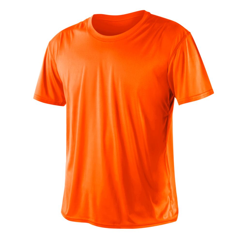 HODARLA 激肤无感衣 男女凉感短T恤-0秒吸排抗UV轻量吸湿排汗 阳光橘@3103915@