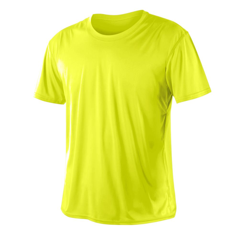 HODARLA 激肤无感衣 男女凉感短T恤-0秒吸排抗UV轻量吸湿排汗 萤光黄@3103917@