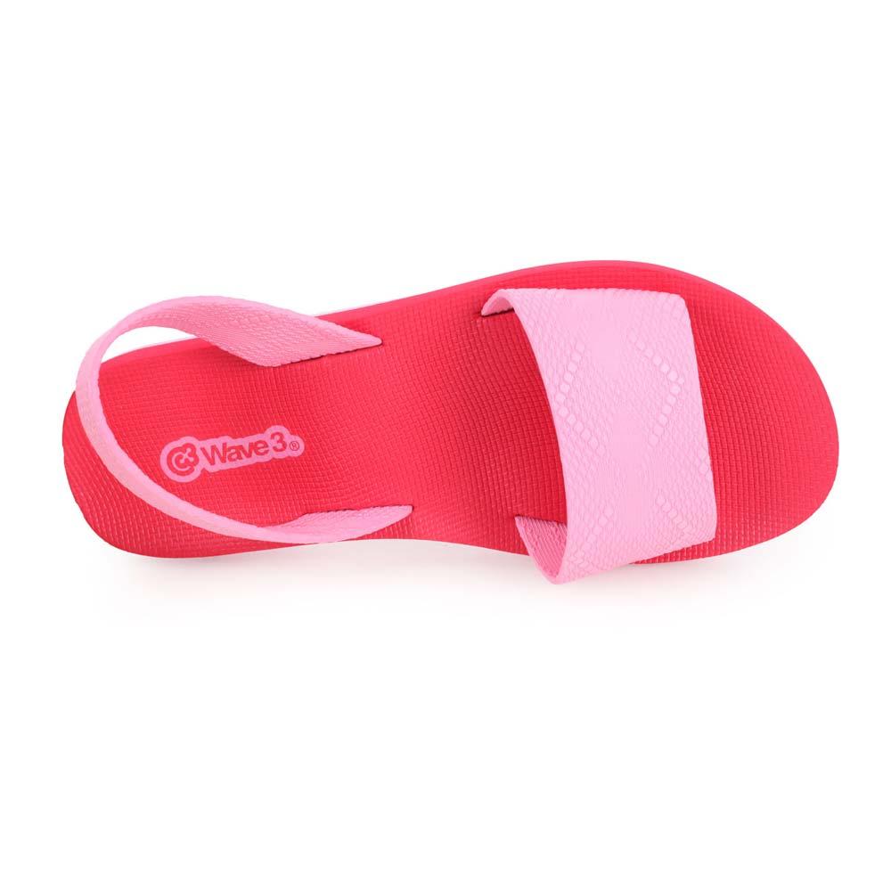 WAVE3 女瑜珈垫凉鞋-拖鞋 台湾制 红粉红@15200705@