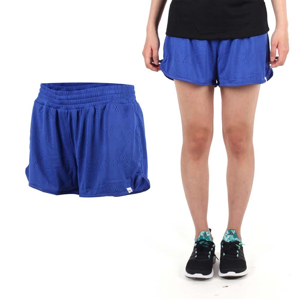 PUMA 女網布運動短褲-慢跑 路跑 運動 休閒 藍@51397002@
