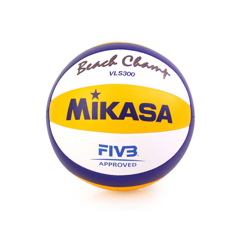 MIKASA 手縫沙灘排球 - 5號球 FIVB指定球 海邊 黃藍白@VLS300@