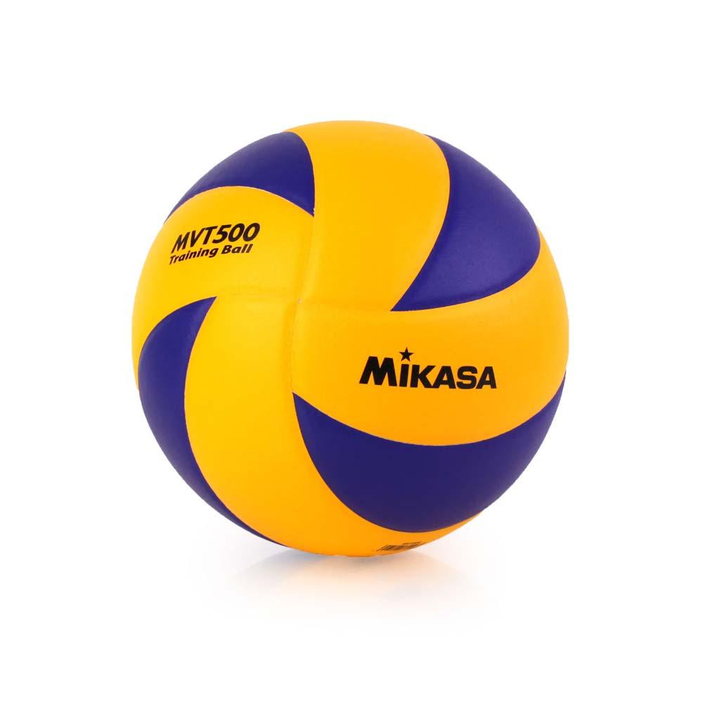 MIKASA 訓練用排球 - 5號球 重球 練習球 藍橘@MVT500@
