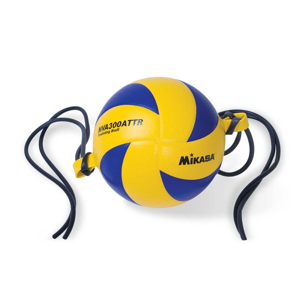MIKASA 訓練彩皮排球-橫吊- 五號球 藍橘@MVA300ATTR@
