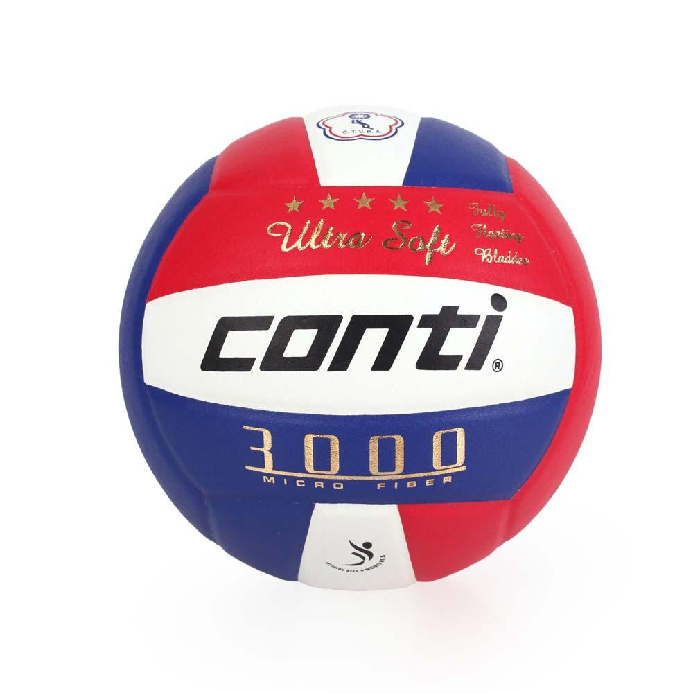 conti 5號頂級超細纖維貼布排球 藍紅白@V3000-5-RWB@