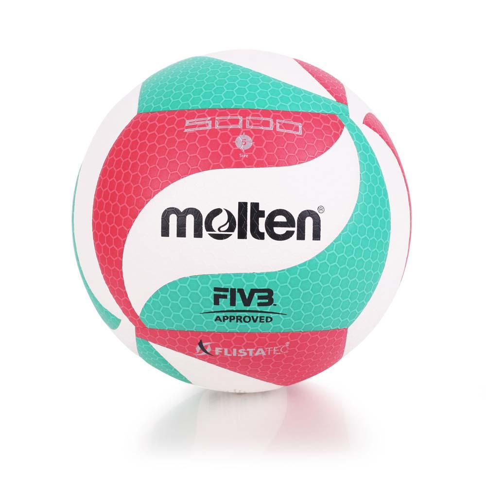 MOLTEN #5合成皮排球-5號球 白紅綠@V5M5000@