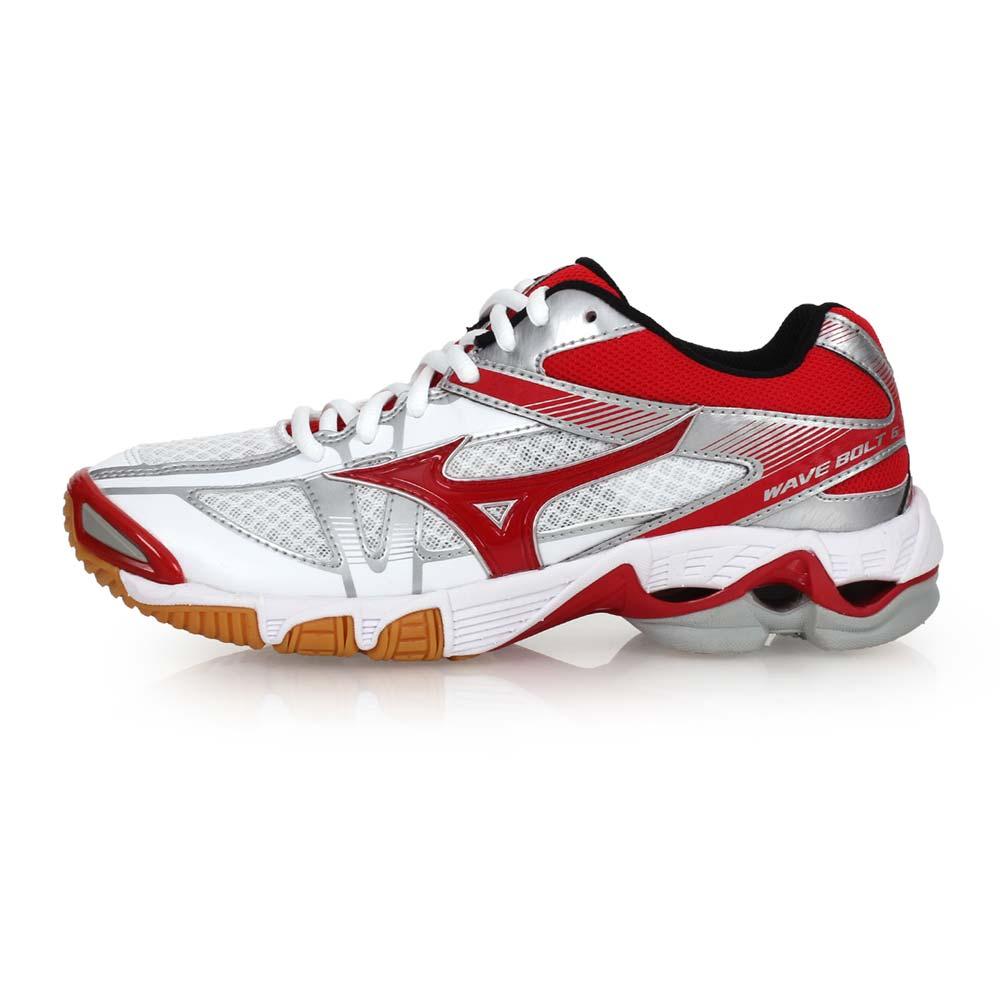MIZUNO WAVE BOLT 6 女排球鞋-美津浓 白红@V1GC176062@