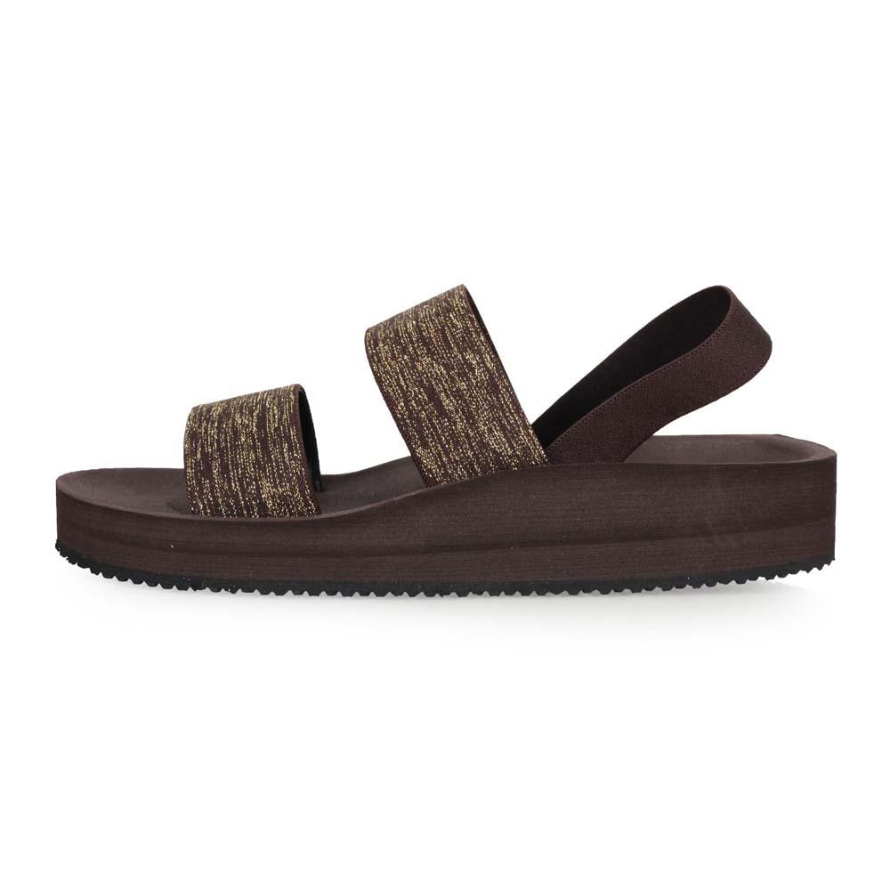 WAVE3 女中厚底双片金葱日系凉鞋-拖鞋 游泳 戏水 海边 海滩 沙滩 咖啡金@17206302@