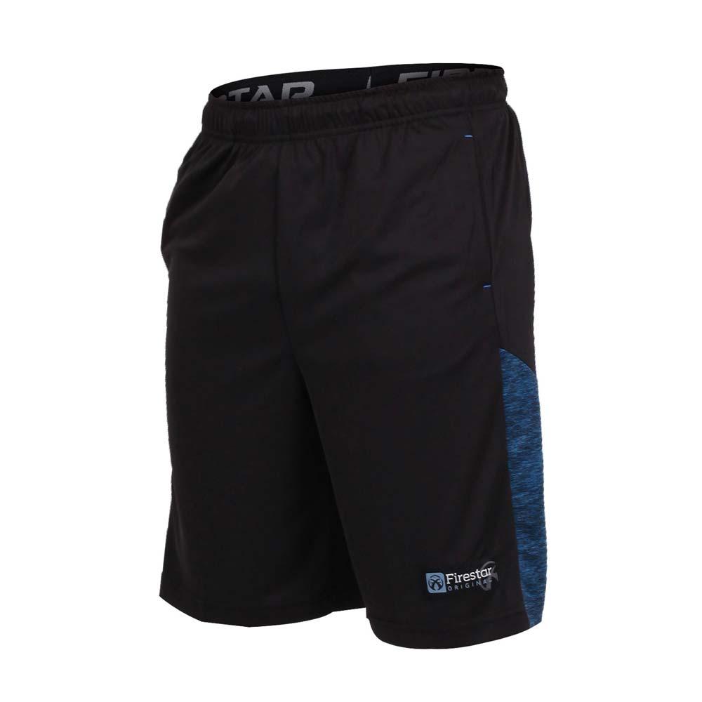 FIRESTAR 男篮球短裤-慢跑 路跑 黑蓝@B7605-97@