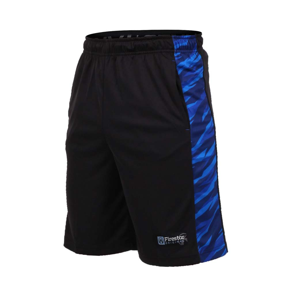 FIRESTAR 男篮球短裤-慢跑 路跑 五分裤 黑宝蓝@B7606-92@