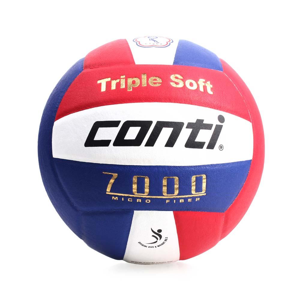 conti 5號球 日本超細纖維結構專利排球-排球協會指定用球 DVV1認證 藍紅白@V7000-5-RWB@