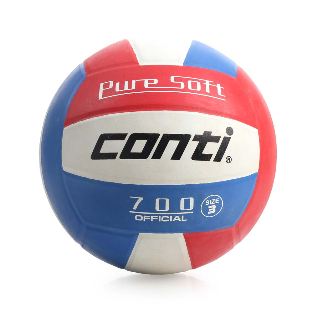 conti 3號球 超軟橡膠排球-排球協會指定用球 藍紅@V700-3-RWB@