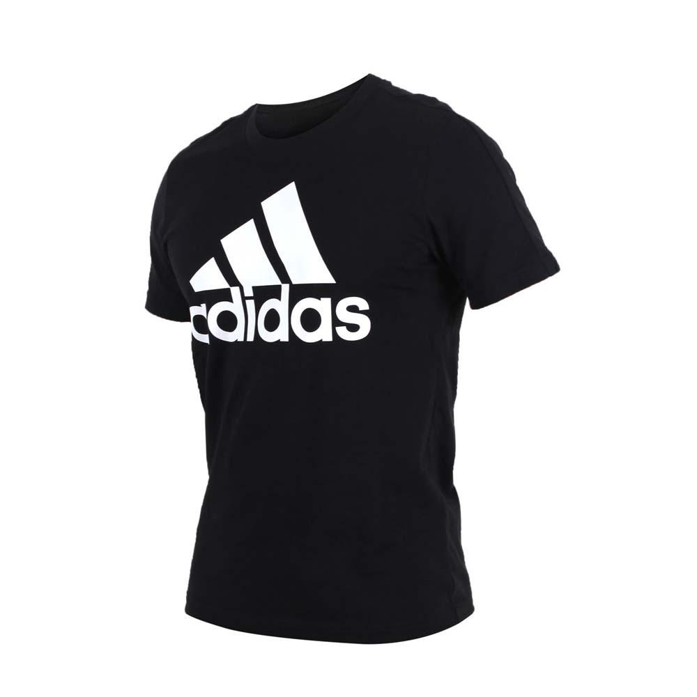 ADIDAS 男短袖上衣-T恤 短T 慢跑 路跑 训练 健身 爱迪达 黑白@CD4864@