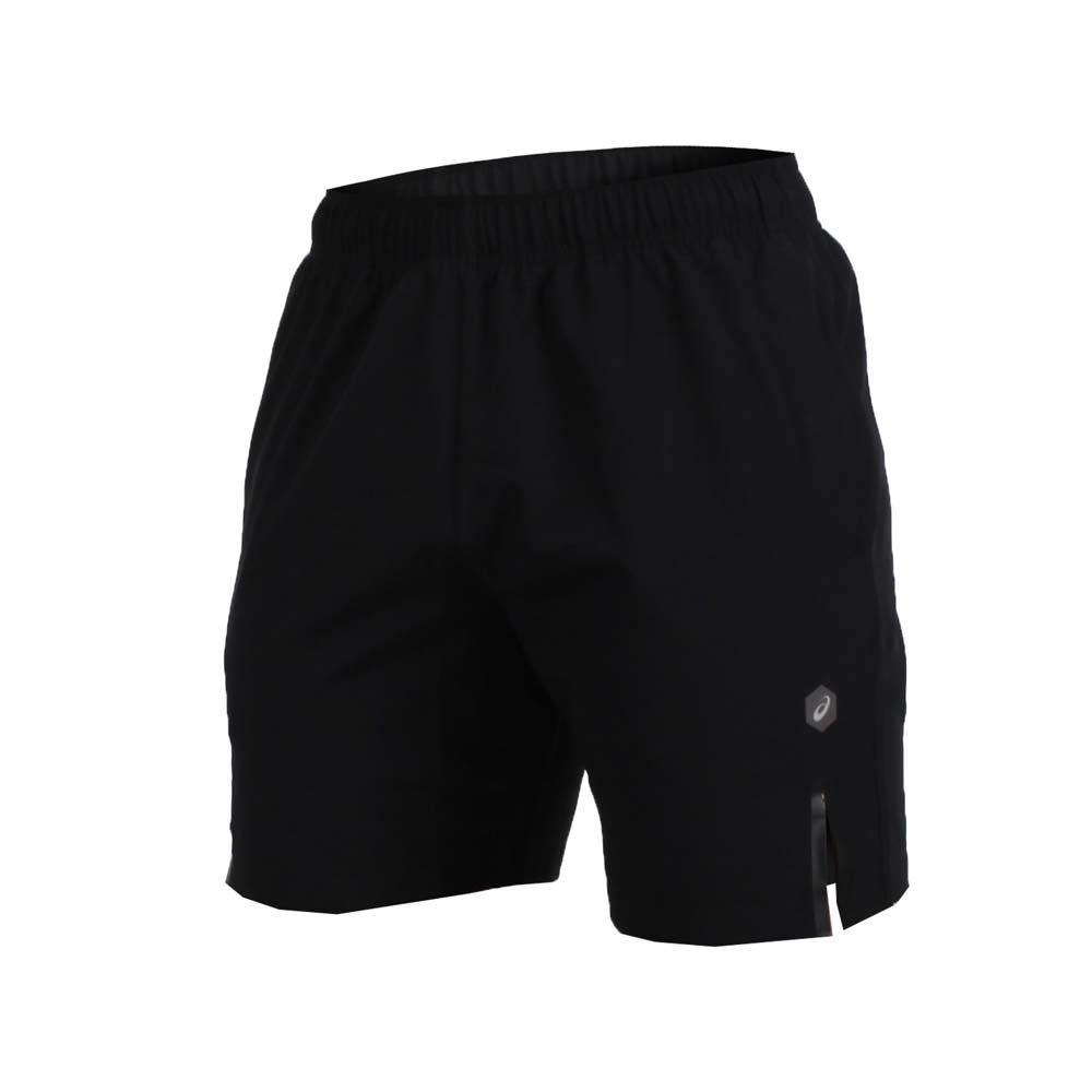 ASICS 男 7吋平织运动短裤-慢跑 路跑 亚瑟士 黑@151413-0904@