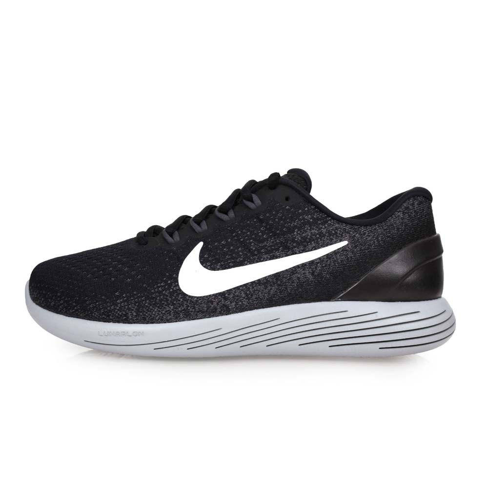NIKE LUNARGLIDE 9 男慢跑鞋-训练 健身 路跑 黑灰@904715001@