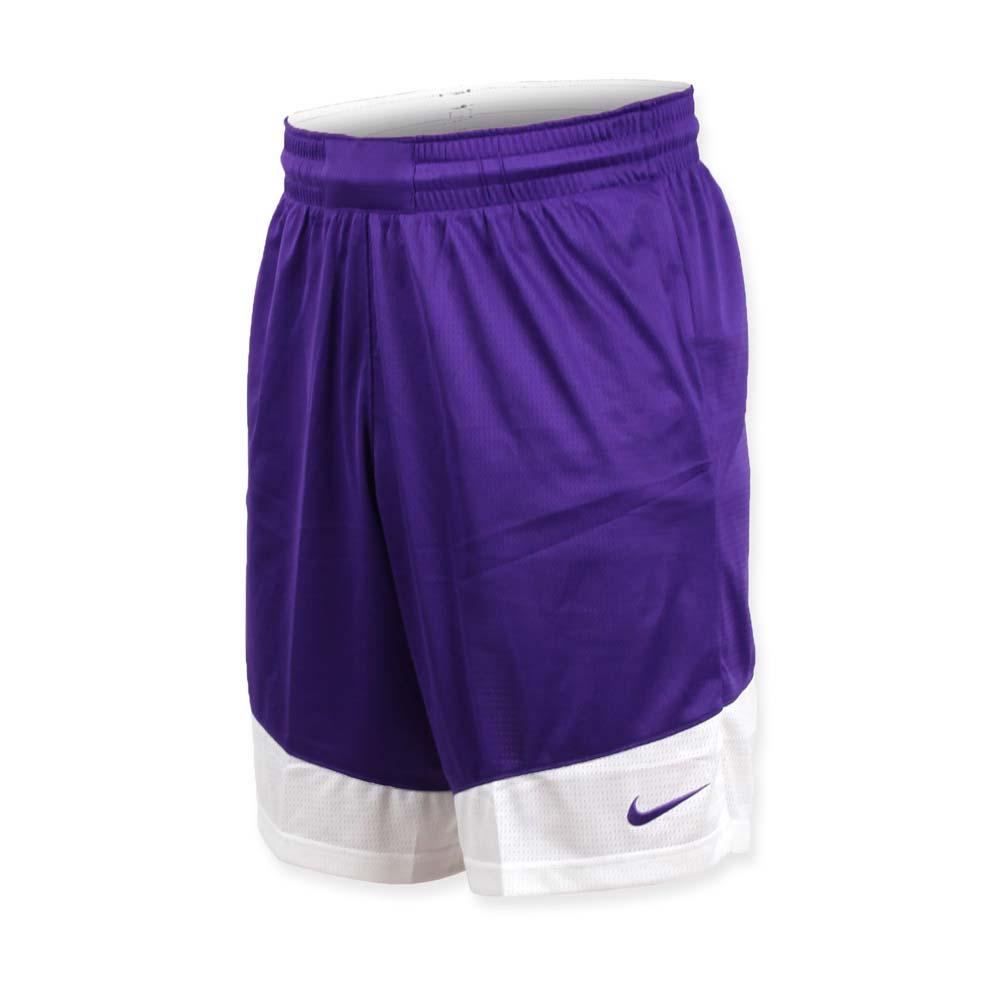 NIKE 男篮球针织短裤-路跑 慢跑 训练 五分裤 紫白@867769546@