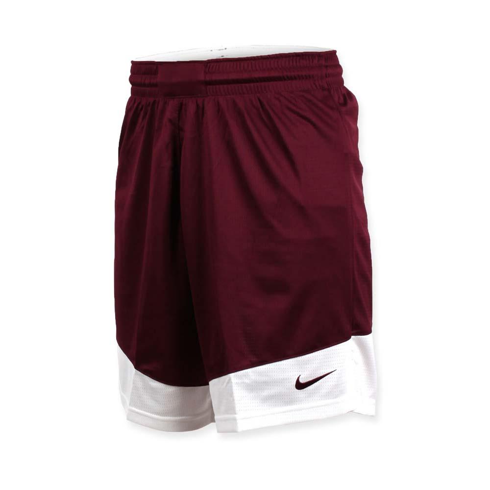 NIKE 男篮球针织短裤-路跑 慢跑 训练 五分裤 暗红白@867769670@