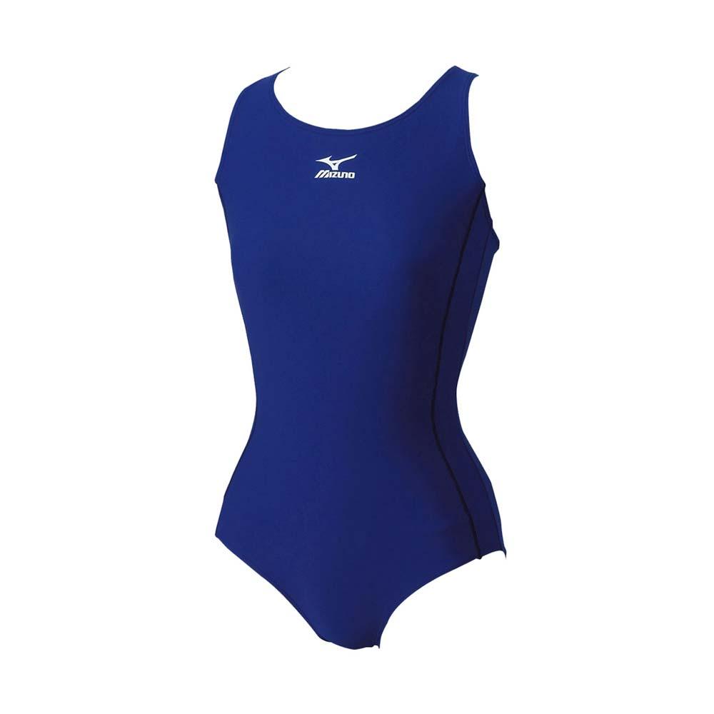 MIZUNO BASIC 女泳衣-连身 泳装 游泳 竞赛 美津浓 蓝@85EE-30014@