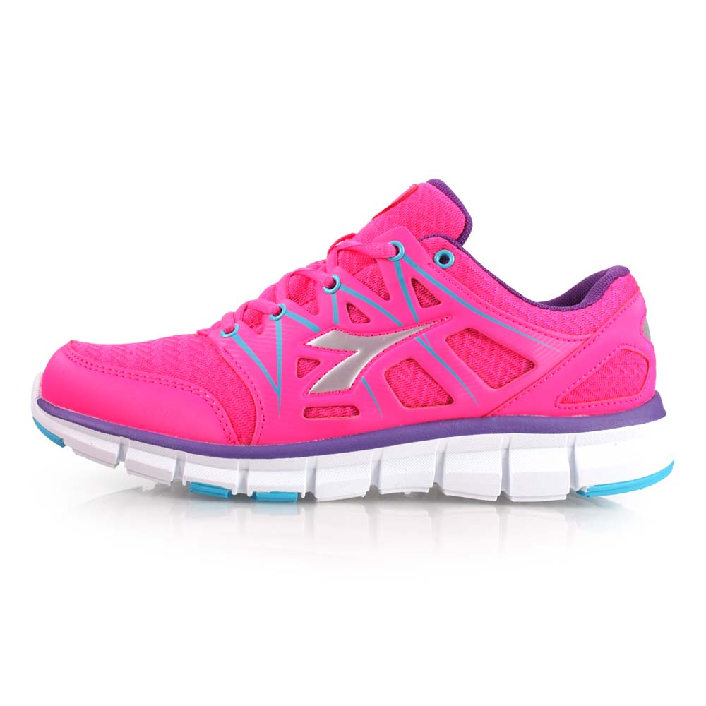 DIADORA 女慢跑鞋-训练 健身 路跑 粉红紫@DA7AWR5612@