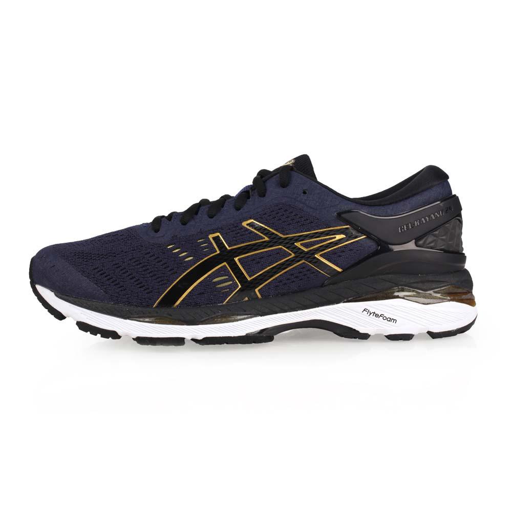 ASICS GEL-KAYANO 24 男慢跑鞋-亚瑟胶 路跑 训练 亚瑟士 丈青金@T749N-5890@